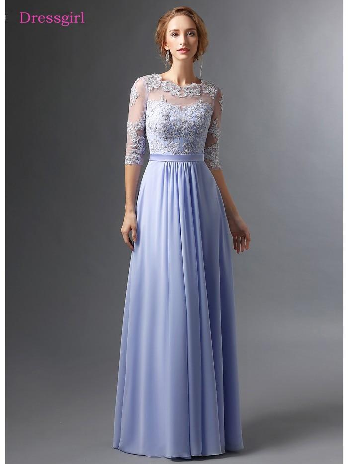 sky blue 2019 mother of the bride dresses a line half