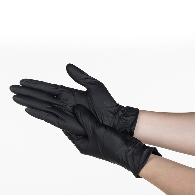 Aibusiso NBR latex black disposable gloves 100 pcs/ box for food home cleaning Acid Alkali resistance antiskid golves A7103 50pcs disposable safety protective latex for home cleaning industria rubber long female kitchen wash dishes garden work gloves a