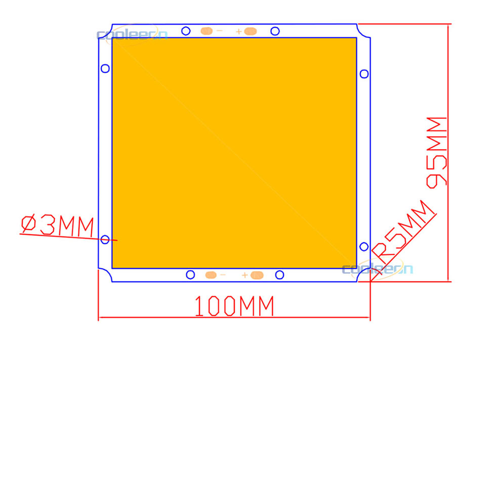 100mm Square 12v 50w Cob Led Light With Dimmer Warm Cool White Flip Atlas Wiring Diagrams Dimmable Bulb Lamp House Lighting Car Lights 1