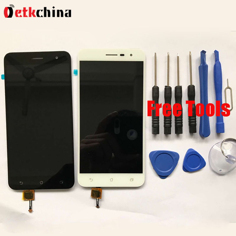 For ASUS Zenfone 3 ZE520KL LCD Display + Touch Screen Panel 100% High Quality LCD Screen Digitizer Assembly Replacement + Tools