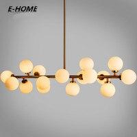 Moden art glass chandelier light 16head gold/black magic bean led Pendant lamp living dining room shop led striplight