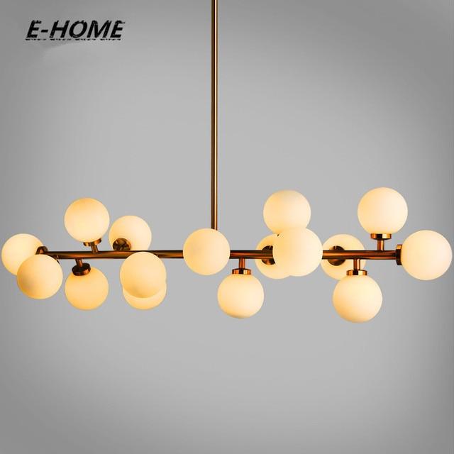 Moden Art Glass Chandelier Light 16head Gold Black Magic Bean Led Pendant Lamp Living Dining