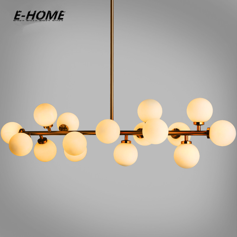 Modern Glass Pendant Light Nordic Dining Room Kitchen Light Designer Hanging Lamps Avize Lustre Lighting for dining room