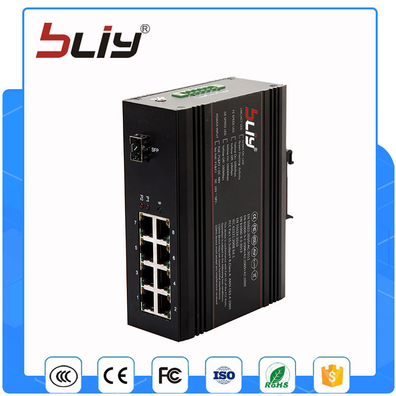 1GX8GP 8 poe port small manageable gigabit switch 134W power over ethernet switch with 1 sfp port cctv 4 port 10 100m poe net switch hub power over ethernet poe