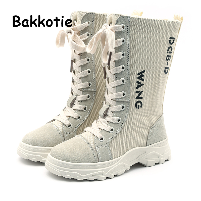Bakkotie 2018 Winter Baby Girl Fashion Genuine Leather Boots Children Warm  Knee-High Shoes Kid Brand Soft Shoes Boy Black Shoes efd3abe136ff