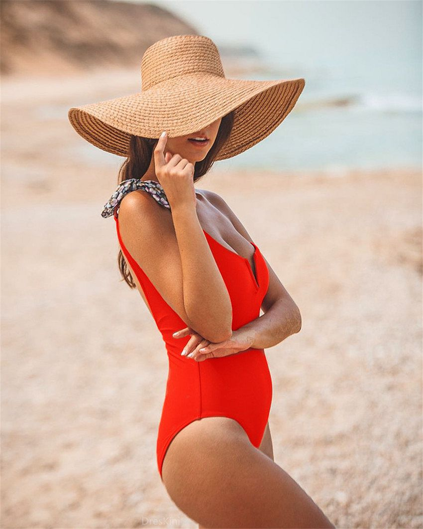 Phaixoneible 2019 New Sexy One Piece Swimsuit Shouler Swimwear Women Monokini Solid Bathing Suit Bodysuit
