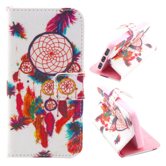 12 Styles Flip PU Leather Cover Case For Iphone 5G 5S 5 SE