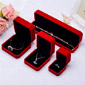 Red Black Velvet Ring Earings necklace bracket bangle Box Jewelry Display Storage Foldable Case For Wedding Valentine's Day Gift
