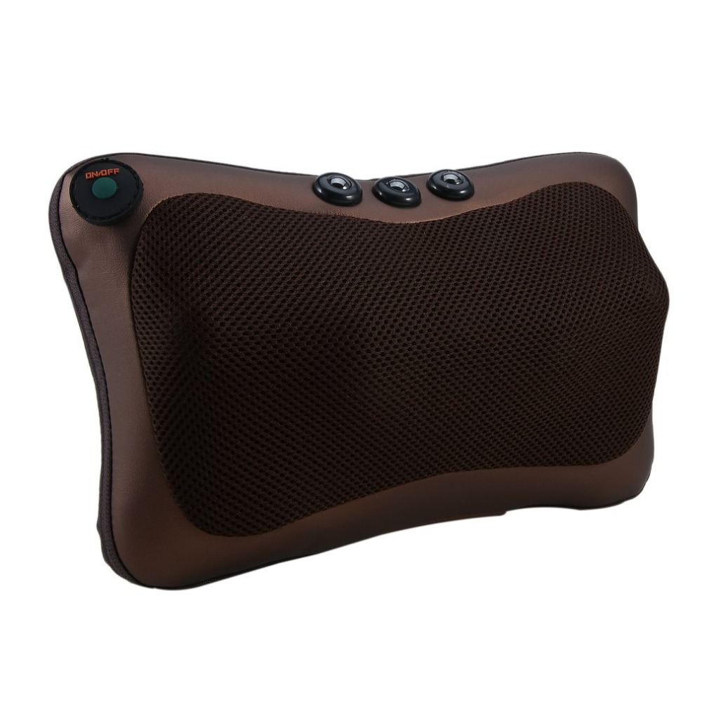 Neck Massager Car Home Shiatsu Massage Neck Relaxation Back Waist Body Electric Massage Deep-Kneading Pillow Cushion