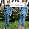 Высокое качество Красивый Новый Идеально Подходит Случайные Костюмы установить Аксессуары Топ + брюки Одежда Для Barbie парень Кем Кукла BBI00376