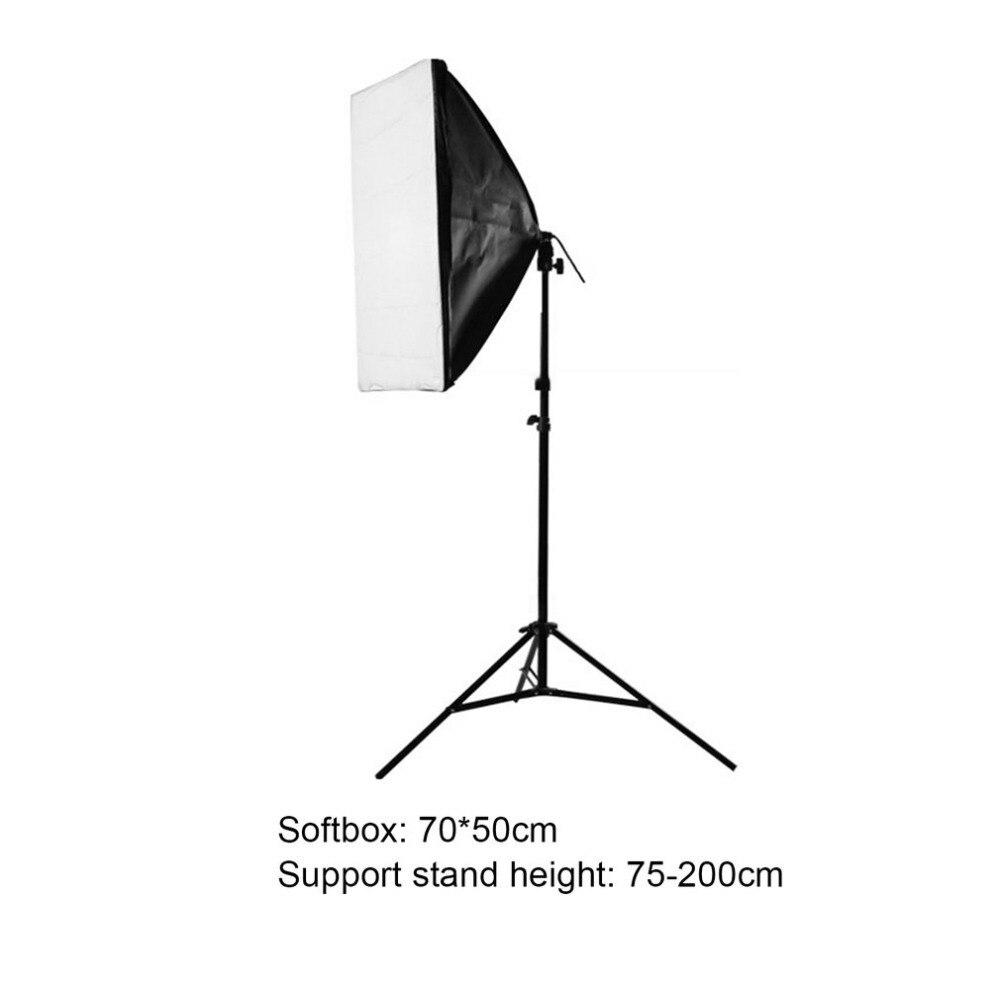 Photography Lighting Flash Softbox 70x50cm with Single Lamp Socket + Photo Studio Soft Box Holder Kit For Photo Studio Diffuser puluz 40 40cm 16light photo studio box mini photo studio photograghy softbox led photo lighting studio shooting tent box kit
