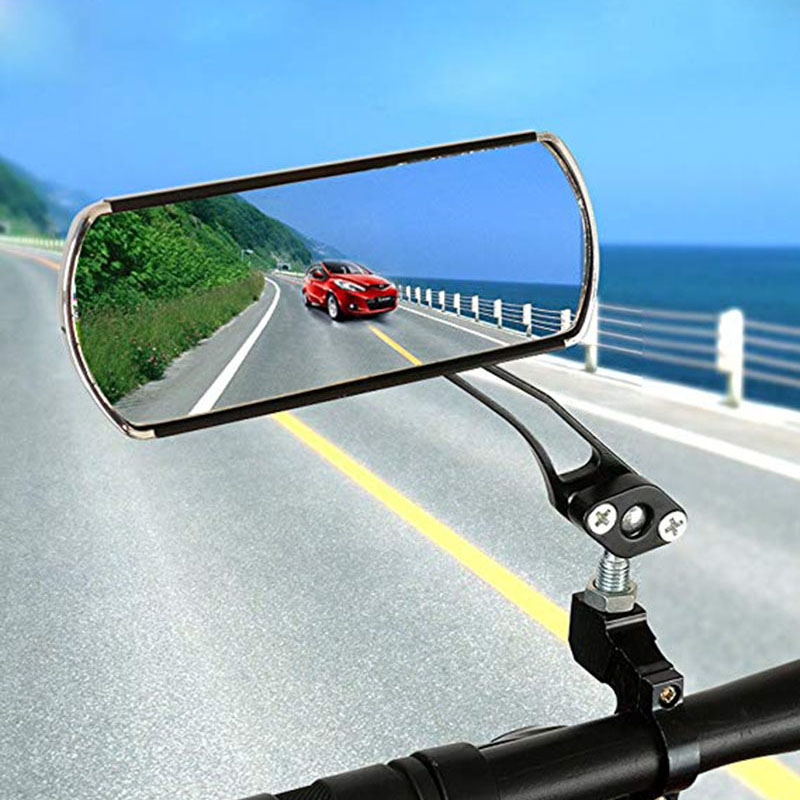 Bike MTB Bicycle Rearview Mirror Handlebar End 360° Rotate Rear Back View Surpri