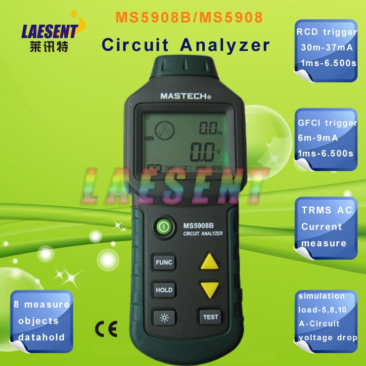 все цены на  Circuit Analyzer Mastech TRMS AC Low Voltage Distribution Line Fault Tester RCD GFCI Sockets Testing MS5908 MASTECH  онлайн