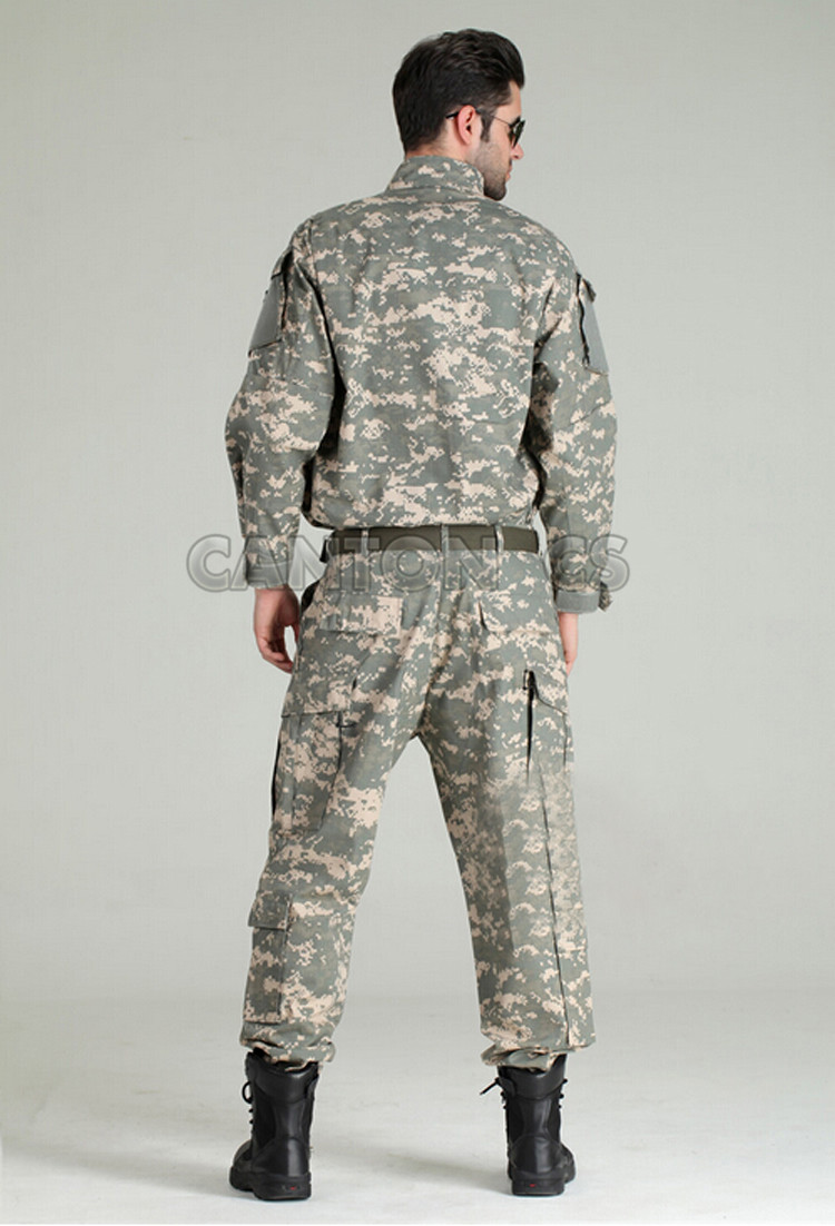 Uniforme tactique de l'armée américaine costume de Camouflage boisé uniforme de Combat militaire ensemble chemise + pantalon vêtements de chasse en plein air vêtements hommes - 4