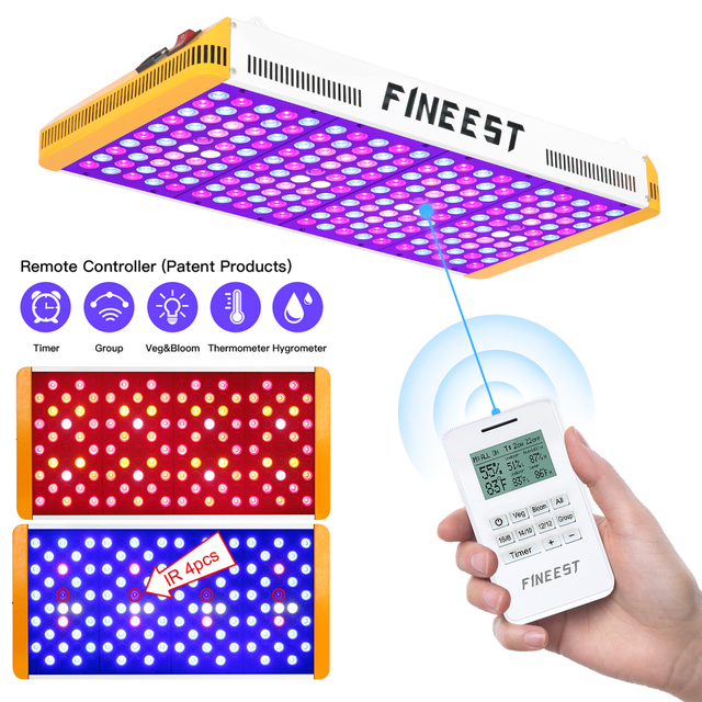 FINEEST Led Grow Light Full Spectrum 1000W/1500W/2000W/3000W Remote Control Timer Veg Bloom Group Control for Indoor Plants