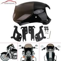 WISENGEAR Front Gauntlet Headlight Fairing Mask For Harley Road King FLHR FLHRC FLHRS EFI Classic Custom