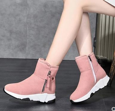 New Fashion Women Boots Snow Boots Sneakers Plush High Top Velvet Cotton Shoes Warm Lace-up Non-slip boots 49