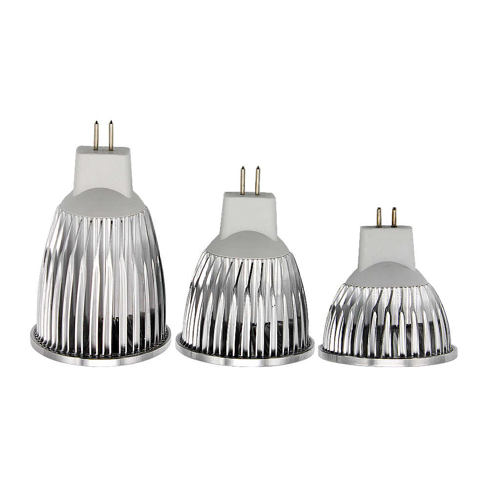 Высокое качество MR16 AC/DC 12 В в Вт 9 Вт 12 Вт 15 светодио дный Вт светодиодный COB прожектор затемняемый свет алюминиевая лампа для люстры замена галогенная лампа