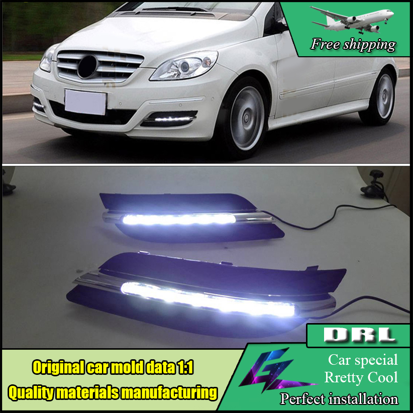 Car Styling LED DRL Kit For Benz W245 B Class B180/B150/B170/B200 2008 2009 2010 LED Bumper Daytime Running Lights Daylight zhaoyanhua car floor mats for mercedes benz w169 w176 a class 150 160 170 180 200 220 250 260 car styling carpet liners 2004