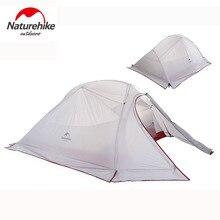 Naturehike 210 т t/20D силиконовая ткань Ультралайт 3 человека Кемпинг палатки 4 сезона двухслойная дорожная палатка 1,8 кг с бесплатным ковриком