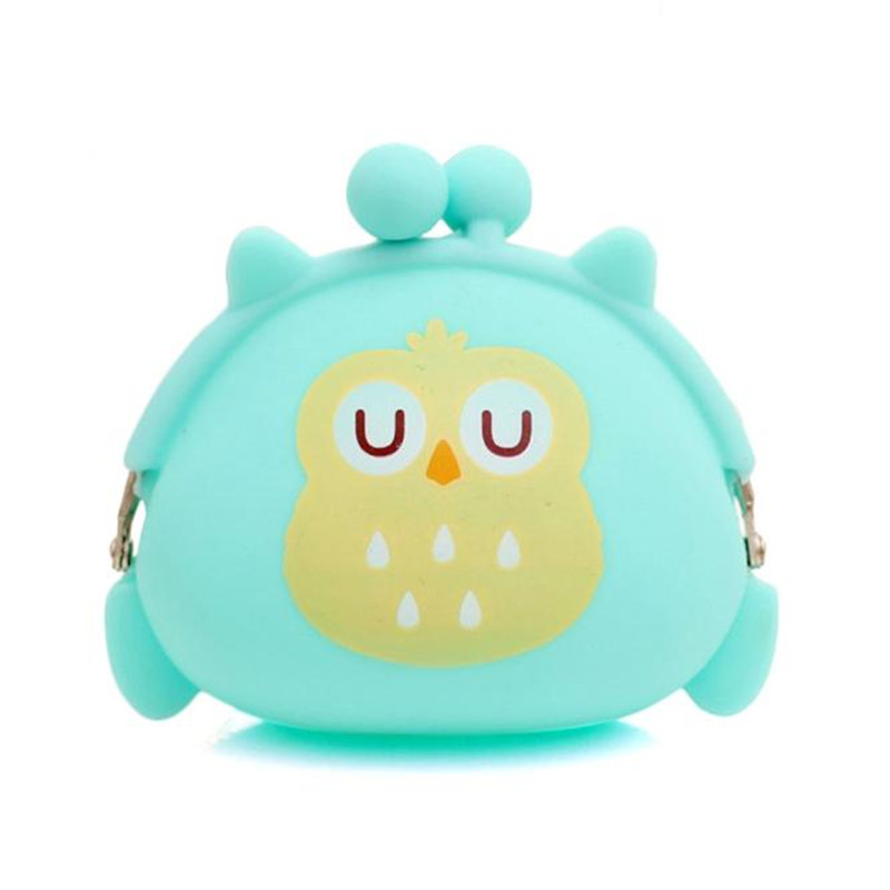 Coin Purses Women Purse for Coins Children's Wallet Kids Wallets Cute Cartoon Owl Silicone Jelly Change Bag Keys Pouch S65 new brand mini cute coin purses cheap casual pu leather purse for coins children wallet girls small pouch women bags cb0033