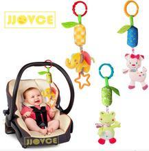 JJOVCE Infant Rattle Cartoon Animal Models Baby Stroller Tinkle Hand Bell Campanula Pendant Plush Educational Toys 40% off