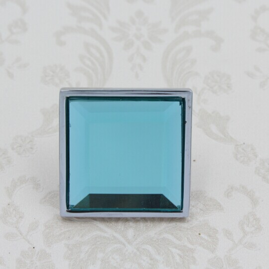 Glass handle Blue crystal drawer cabinet knob silver dresser cupboard door handle knob square chrome furniture door knob 30mm ceramic drawer kitchen cabinet handle knob bronze dresser cupboard door pull knob antique brass furniture wood door handles knob