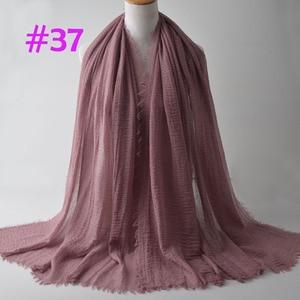 Image 4 - Crinkle Plain Wrinkle Wrap,bubble cotton muslim hijab,Soft Islam scarf,Viscose Maxi crinkle scarves,solid scarf,Head Hijab shawl