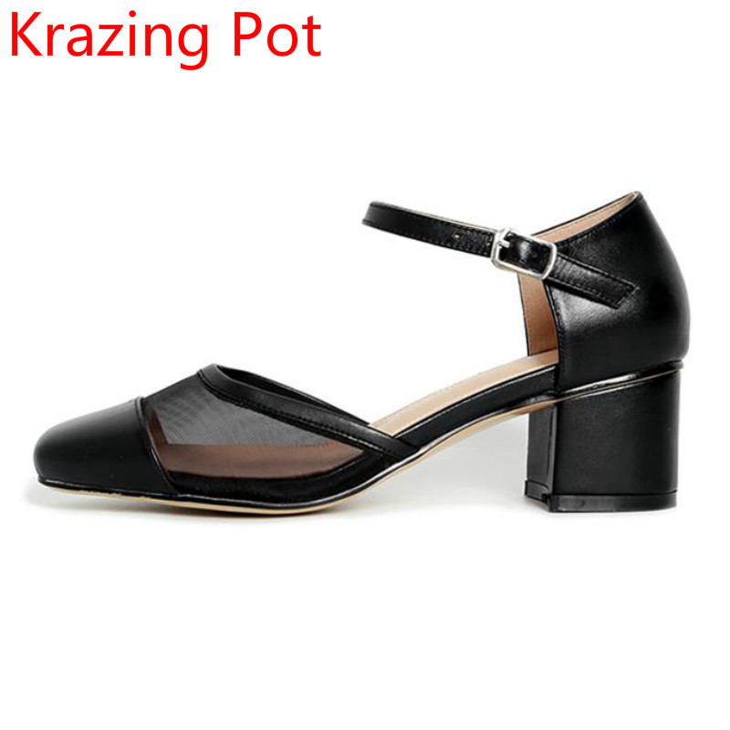 2017 New Fashion High Heels Square Toe Brand Party Women Pumps Shallow Buckle Straps Sweet Office Lady Concise Crystal Shoes 08 2017 new fashion brand spring shoes large size crystal pointed toe kid suede thick heel women pumps party sweet office lady shoe