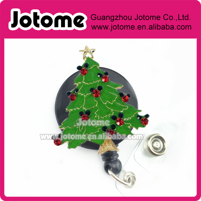 Mickey Mouse Christmas Tree.Us 289 0 Red Black Rhinestone Crystal Mickey Mouse Christmas Tree Nurse Retractable Id Card Badge Holder In Key Chains From Jewelry Accessories On