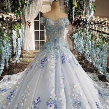100% Real Photos Vestido Festa Ball Gown Evening Dresses