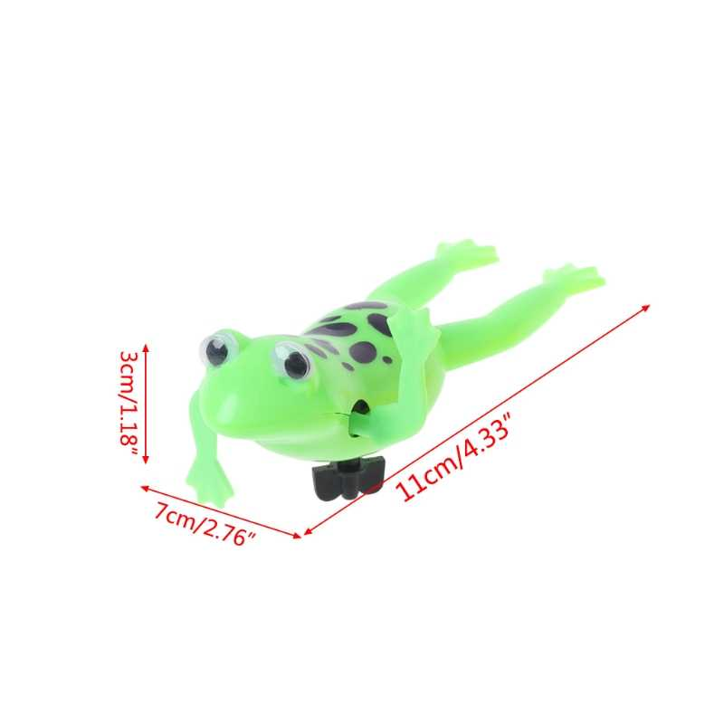 HBB Wind up Swimming Cute Frog Toy Clockwork Stop Crying Baby Kids Bath Toys