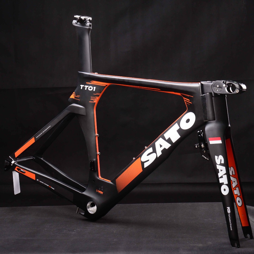 TT Carbon Track Bike Frame Di2 Groupset time trial bicycle SATO logo painting With TRP TV Brake