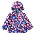 Com capuz Casacos Meninas Miúdos Impressão Outerwear Casacos ChildrenCoat Meninos Casaco Jaqueta Casaco de Inverno Crianças Roupas de Bebê Primavera Outono