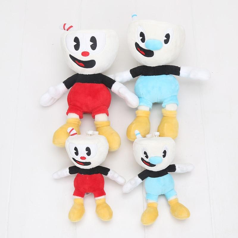 6PCS//Set Cuphead Ms Chalice Mugman Mecup Brocup Stuffed Animal Plush Doll Toy