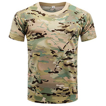 Summer Military Camouflage T-shirt Men US Army Short Sleeve Tactical T Shirt Cotton O Neck Green Top Clothes