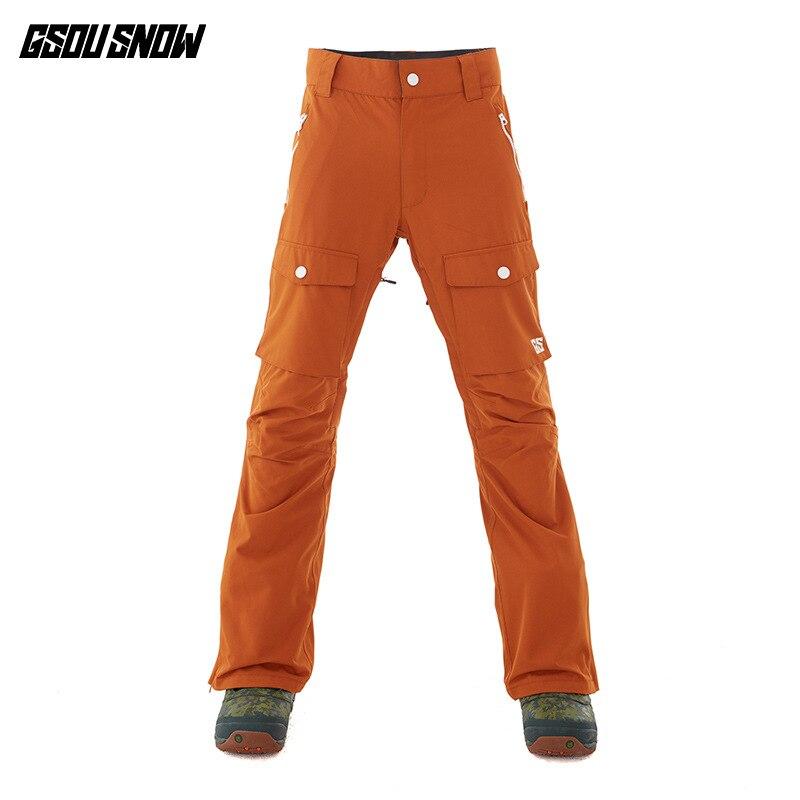 GSOUSNOW pantalons d'escalade de ski en plein air 2018 hommes nouveau style coupe-vent froid et chaud pantalons de ski pour hommes