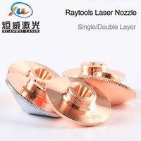 """ממ עבור Raytools לייזר נחיר יחיד Layer / Double שכבות Dia.32mm קליבר 0.8 - 5.0 מ""""מ עבור raytools בודור לייזר conusmables הסיטונאי (5)"""