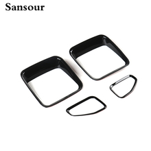 Sansour 2014-2016 Car Tail Light Guard Rear Lamp Trim Cover Ring Outlet Exterior ABS Chrome for Jeep Renegade Free Shipping