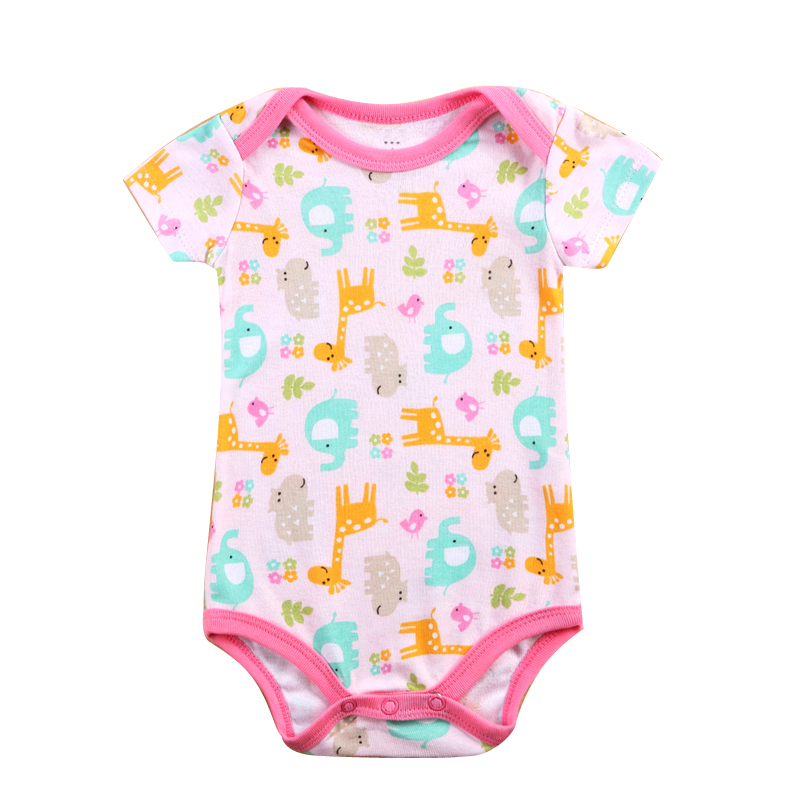 Summer Newborn Bodysuit 100% Cotton Short Sleeved Rompers Jumpsuit Underwear Infant Clothes Kids Baby Boy Outfits Clothes Set