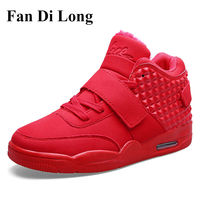 2016 Fashion Men Casual Shoes High Top Women Shoes Breathable Outdoor Trainers Unisex Red Zapatillas Hombre