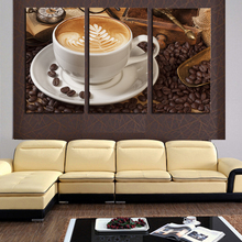 2016 3Panel Coffee Wall Art Picture Modern Painting Canvas Home Decoration Living Room Canvas Print--Large Canvas Art Unframed цена