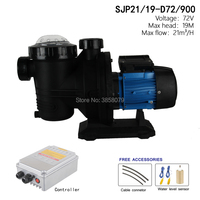 72V 900watts Solar Pool Water Pump ,solar powered swimming pool pumps, solar pump for pool SJP21/19 D72/900