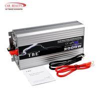 Pure Sine Wave 3000W Car Power Inverter DC 12V to AC 220V USB Car Converter 3000Watt Peak Power 6000W Solar Inverter Charger