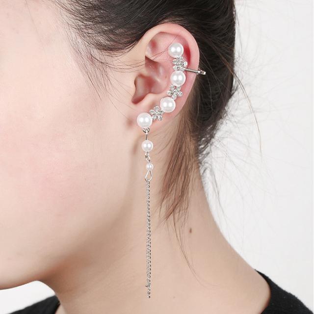 Full Wrap Ear Cuff with Pearls