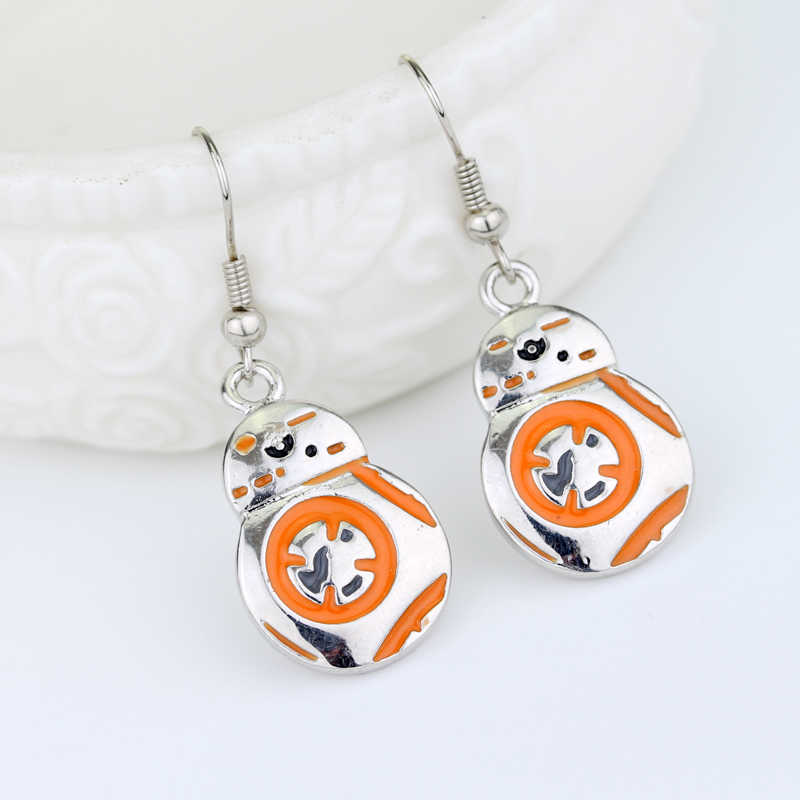 MQCHUN Star Wars the Force Awakens Earring Robot BB8 BB-8 Charm Earring For Women Alloy Earring Movie Jewelry -15