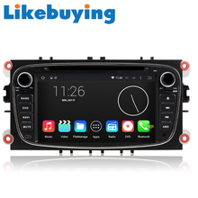 Likebuying QUAD CORE Car 2 Din 1024*600 16G Android 4.4.4  DVD GPS Radio Stereo Navigator for FORD  Focus  MONDEO TRANSITCONNECT