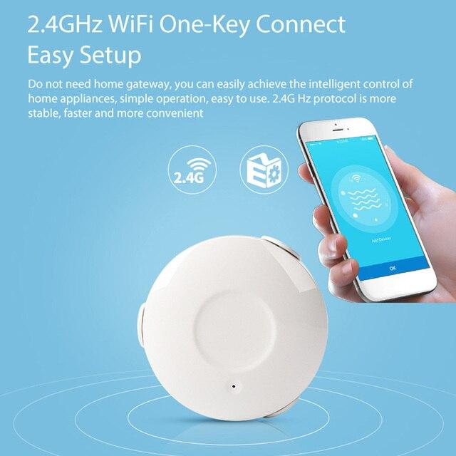 Ome assistente alarme inteligente sensor de água wi fi casa inteligente inundação água wi fi detector vazamento alarme sensor pk para xiaomi casa inteligente