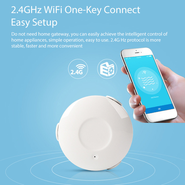датчик протечки google Google assistant сигнализация умный датчик воды WiFi умный дом протечка воды WiFi утечка сенсорный датчик тревоги PK для xiaomi умный дом