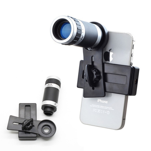 Universal Mobile phone Camera Lenses 8X Telescope Zoom Telephoto Lens For Samsung Galaxy S3 S4 S5 S6 S7 Xiaomi redmi Meizu LG